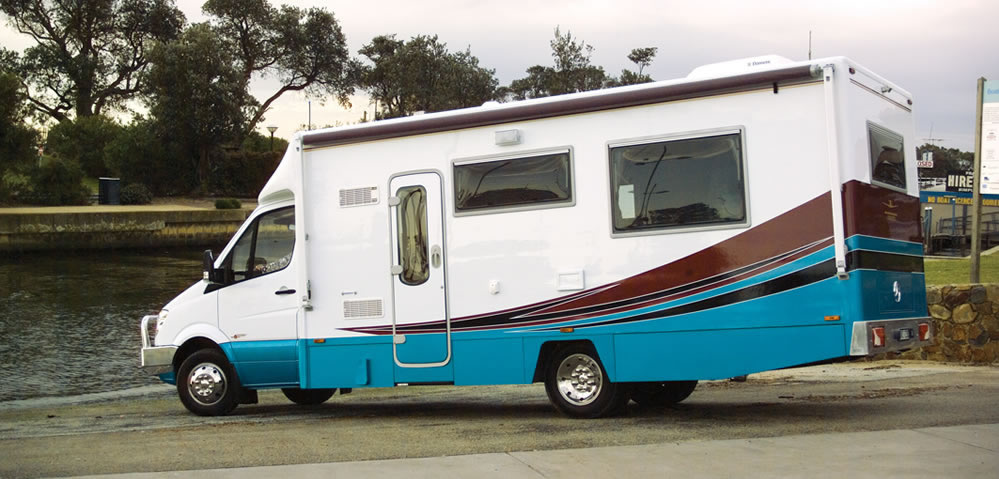 Wirraway 260 SL Motorhome Showing the slideout room